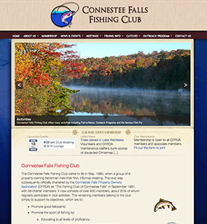 Connestee Falls Fishing Club website